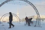 Впервые в центре парка 10-летия Ангарска будет устроена прогулочно-ледовая зона